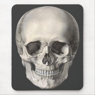 Cráneo humano de la anatomía del vintage esquelet alfombrilla de ratones