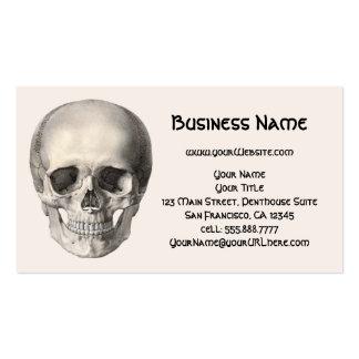 Cráneo humano de la anatomía del vintage, tarjetas de visita