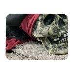 Cráneo humano imán rectangular
