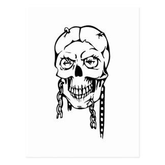 Cráneo humano postal