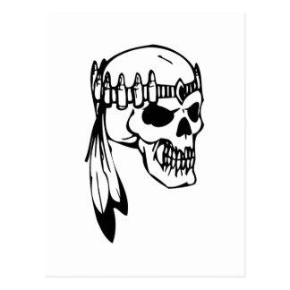 Cráneo humano postales