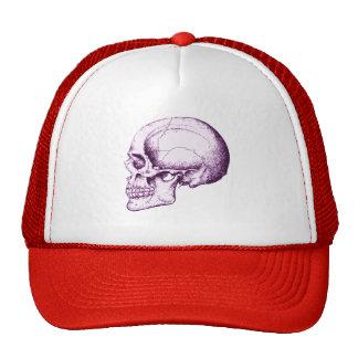 Cráneo humano púrpura gorro de camionero