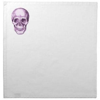 Cráneo humano púrpura servilleta