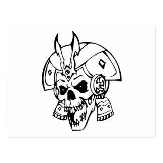 Cráneo humano tarjetas postales