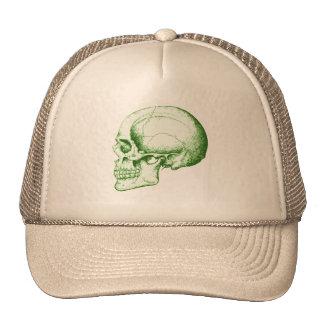 Cráneo humano verde gorro