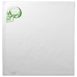 Cráneo humano verde servilleta de papel