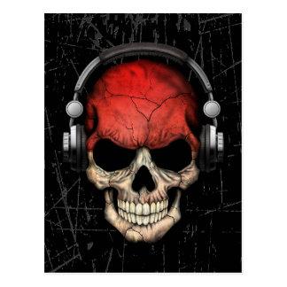 Cráneo indonesio rasguñado de DJ con los Tarjeta Postal