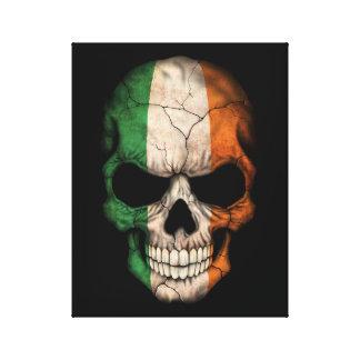 Cráneo irlandés adaptable de la bandera lona envuelta para galerías