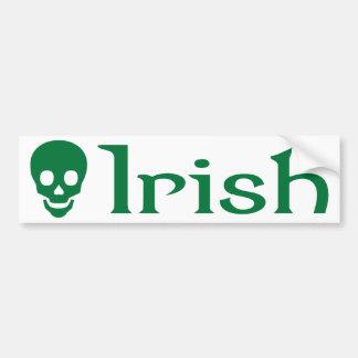 Cráneo irlandés etiqueta de parachoque