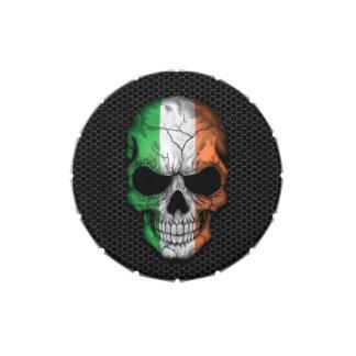 Cráneo irlandés de la bandera en el gráfico de ace