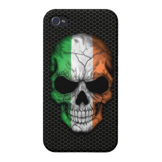 Cráneo irlandés de la bandera en el gráfico de ace iPhone 4 cárcasas
