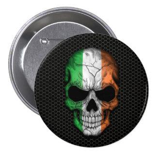 Cráneo irlandés de la bandera en el gráfico de ace pins