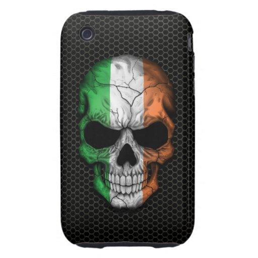 Cráneo irlandés de la bandera en el gráfico de iPhone 3 tough carcasa