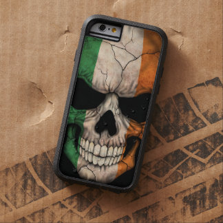 Cráneo irlandés de la bandera en negro funda tough xtreme iPhone 6