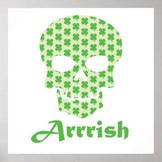 Cráneo irlandés del trébol del pirata de Arrish Impresiones