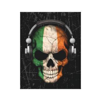 Cráneo irlandés rasguñado de DJ con los Lienzo Envuelto Para Galerías