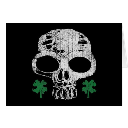 Cráneo irlandés tarjeta de felicitación