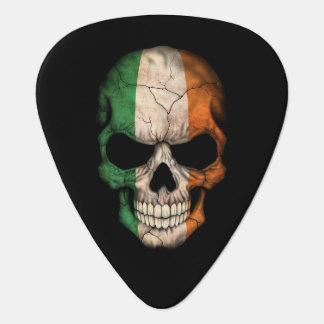 Cráneo islandés de la bandera plumilla de guitarra