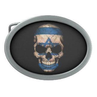Cráneo israelí adaptable de la bandera hebillas de cinturón ovales