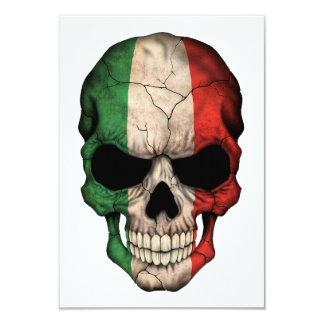 """Cráneo italiano adaptable de la bandera invitación 3.5"""" x 5"""""""