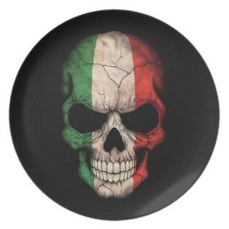 Cráneo italiano adaptable de la bandera platos de comidas