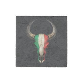 Cráneo italiano de Bull de la bandera Imán De Piedra