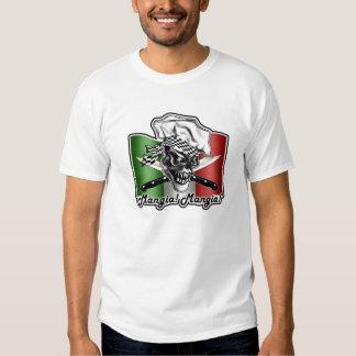 Cráneo italiano del cocinero: ¡Mangia! ¡Mangia! Polera