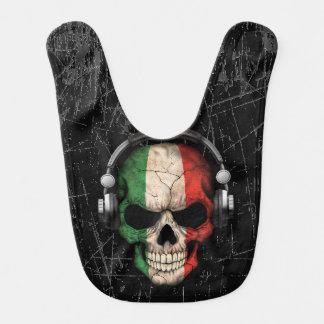 Cráneo italiano rasguñado de DJ con los Babero