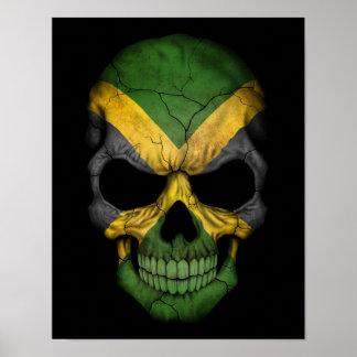 Cráneo jamaicano adaptable de la bandera impresiones
