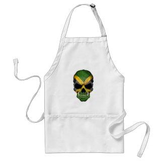Cráneo jamaicano de la bandera delantal