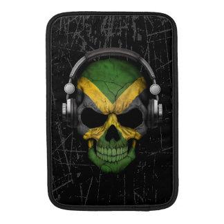 Cráneo jamaicano rasguñado de DJ con los Funda Para Macbook Air