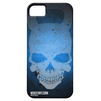 Cráneo Kettlebell - azul - edición limitada iPhone 5 Carcasas