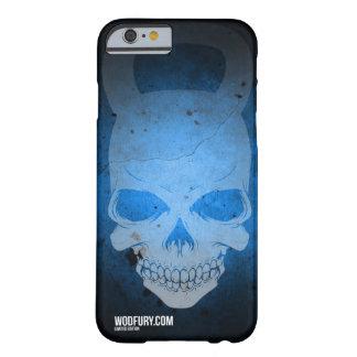 Cráneo Kettlebell - azul - edición limitada Funda Para iPhone 6 Barely There