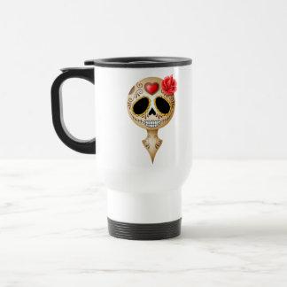 Cráneo lindo del azúcar de Brown Taza De Café