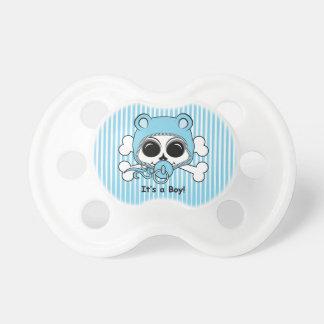 Cráneo lindo del bebé chupete de bebe