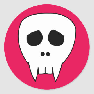Cráneo LINDO MUERTO del vampiro Pegatina Redonda