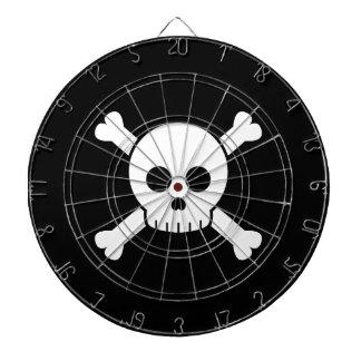 Cráneo lindo y bandera pirata tablero dardos