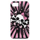 Cráneo lindo y bandera pirata iPhone 5 coberturas