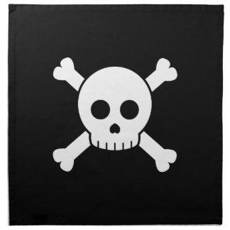 Cráneo lindo y bandera pirata servilleta de papel