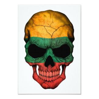 Cráneo lituano adaptable de la bandera invitación 8,9 x 12,7 cm