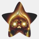 Cráneo llameante colcomanias forma de estrellaes