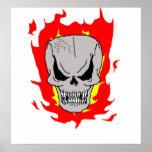 Cráneo llameante posters