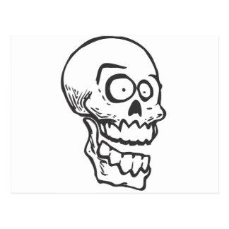 Cráneo loco tarjetas postales