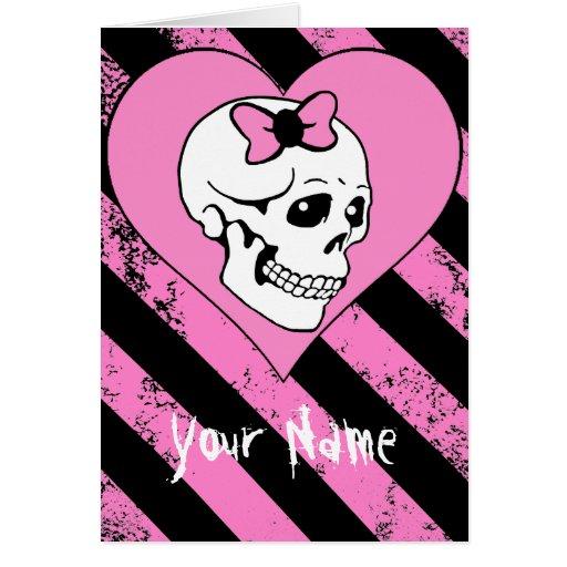 Cráneo Love agrietados (personalizable) Tarjeta De Felicitación