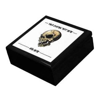Cráneo malvado de la tinta del dibujo animado del  caja de regalo