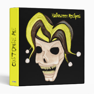 Cráneo malvado del bufón Halloween (amarillo)