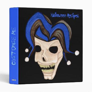 Cráneo malvado del bufón Halloween (azul)