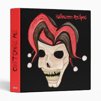 Cráneo malvado del bufón Halloween (rojo)