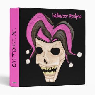 Cráneo malvado del bufón Halloween (rosado)
