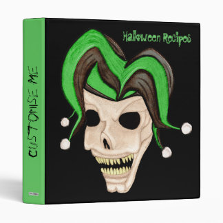 Cráneo malvado del bufón Halloween (verde)
